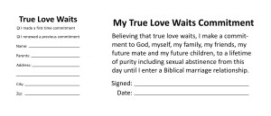 True Love Waits commitment card