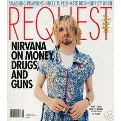 kurt cobain in a dress cover of request magazine