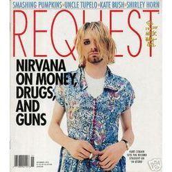 kurt cobain in a dress cover of request magazine