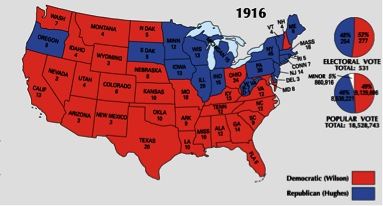 1916 electoral map