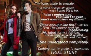 Doctor Who always conforms to my feminist values, right?