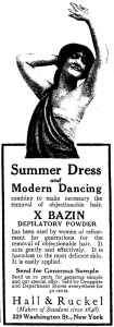 Summer Dress and Modern Dancing: Old School Shaving Ad