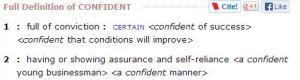 confident def