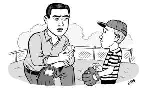 """Son, you throw like a girl raised in a patriarchal society that discourages women from participating in sports."""