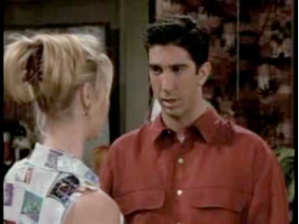 Ross and Phoebe of the Friends series argue about evolution