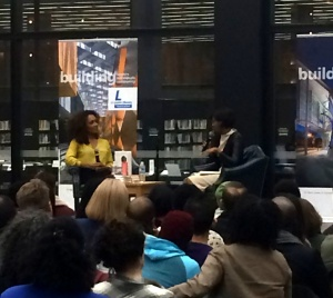 Janet Mock and Helena Andrews at the MLK Jr. Memorial Library