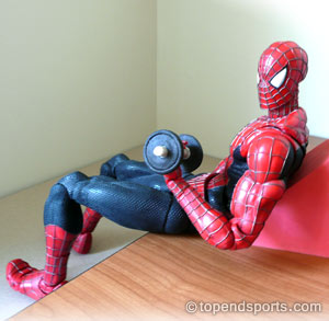 "I don't know why Spiderman shows up when you google ""bicep curls"" but I LOVE IT"