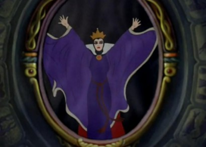 evil queen Snow White with mirror