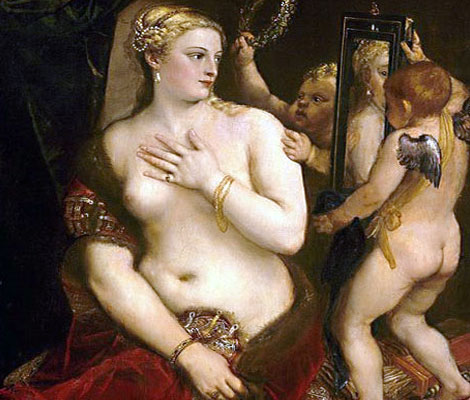 Renaissance painting three women nude here not