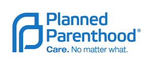 "Planned Parenthood Logo. Slogan reads ""Care. No matter what."""